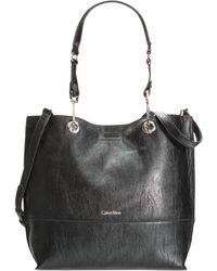 Calvin Klein Reversible Tote with Pouch - Lyst
