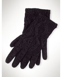 Ralph Lauren Black Label Knit Gloves - Lyst
