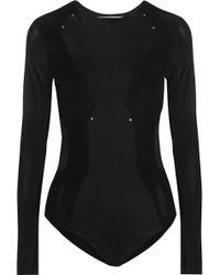 Esteban Cortazar - - Flou Panelled Stretch-jersey Bodysuit - Black - Lyst