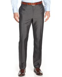 Calvin Klein Grey Dress Slimfit Pants - Lyst