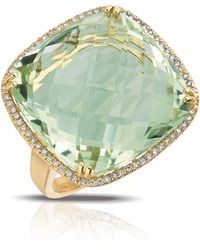 Marco Moore | Diamond, Green Amethyst And 14k Yellow Gold Ring | Lyst