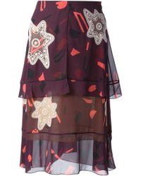 Chloé Purple Layered Skirt - Lyst