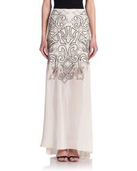 Alice + Olivia Rizo Beaded Maxi Skirt - Lyst