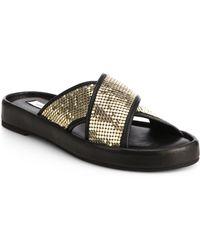 Diane von Furstenberg Sarita Embellished Crisscross Sandals - Lyst