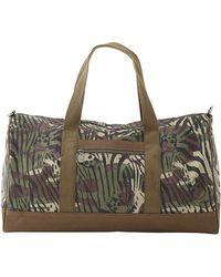 Lucien Pellat Finet - Zebra Print Camouflage Weekend Bag - Lyst