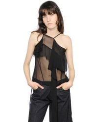 Marques'Almeida Ruffled Silk Chiffon Tank Top - Lyst