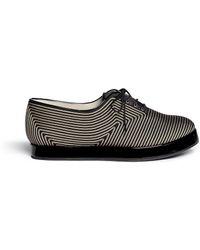 Giorgio Armani Stitch Cord Satin Lace-Up Flatform Shoes black - Lyst