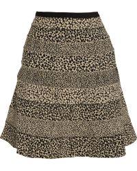 Hervé Léger Animalprint Bandage Skirt - Lyst