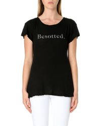 Wildfox Besotted Jersey T-shirt - Lyst
