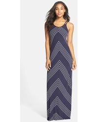 Robin Piccone - Mitered Stripe Maxi Dress - Lyst