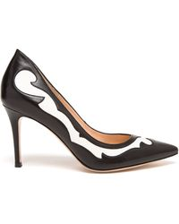 Gianvito Rossi Two-tone Pointed Pumps - Lyst