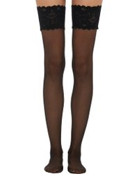 Wolford Satin Touch Thigh-High Stockings - Lyst