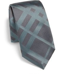 Burberry London Tonal Check Silk Tie - Lyst