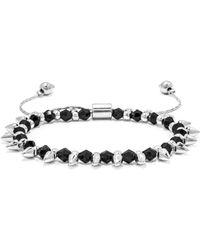 BaubleBar Onyx Spike Pull Bracelet - Lyst