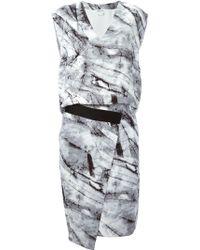 Helmut Lang Printed Silk Dress - Lyst
