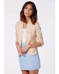 Missguided Cindie Jersey Blazer Blush - Lyst