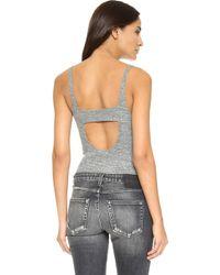 LNA - Heathered Bodysuit - Lyst