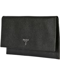 Serapian - Evolution Embossed Leather Travel Pouch - Lyst