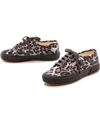Superga Satin Leopard Sneakers  Grey Leopard - Lyst