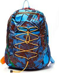 Preen Nylon Leonard Backpack in Cobalt Flower Scarf - Lyst