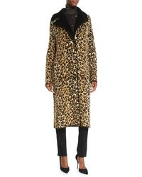 Fuzzi - Leopard-print Sweater Topper Coat - Lyst