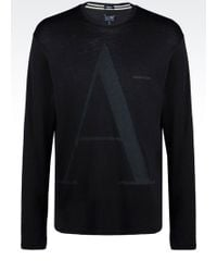 Armani Jeans T-Shirt In Pima Cotton Jersey - Lyst