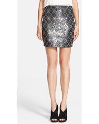 Haute Hippie Women'S Sequin Argyle Skirt - Lyst