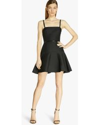 Halston Strappy Silk Faille Dress black - Lyst