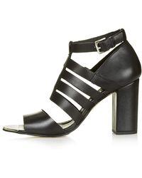 Topshop Womens Glare Gladiator Shoes Black - Lyst
