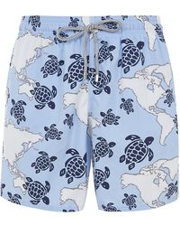 Vilebrequin Moorea Map and Turtle Shorts - Lyst