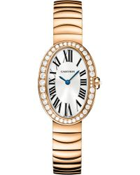 Cartier Baignoire 18ct Pink-gold Small Watch - Lyst