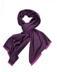 Mercy Delta - Aphrodite Oversized Cashmere Wrap In Purple Herringbone - Lyst