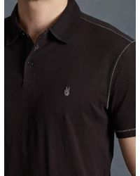 John Varvatos Soft Collar Peace Polo - Lyst