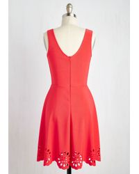 Mystic - Eyelet Getaway Dress In Carnation - Lyst