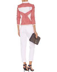 IRO Aubrey Paneled Cotton-Blend Tweed Jacket red - Lyst