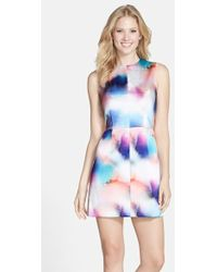 French Connection 'Soft Spray' Print Dress - Lyst