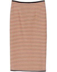 Giada Forte - Ruggine Striped Piquet Skirt - Lyst