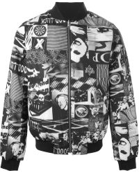 Surface To Air Photographic Print Bomber Jacket black - Lyst