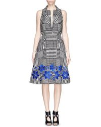 Alexander McQueen Prince Of Wales Check Jacquard Dress - Lyst
