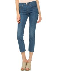 Crippen 70 High Rise Straight Jeans - Dirty White - Lyst