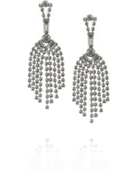Tom Binns Madame Dumont Fonce Rhodiumplated Crystal Earrings - Lyst