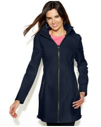 Jessica Simpson - Hooded Zipfront Coat - Lyst