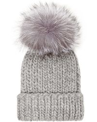 Eugenia Kim Rain Knit Hat with Fur Pompom - Lyst