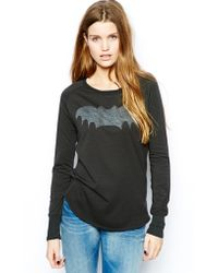 Zoe Karssen Sweatshirt with Bat Print and Contrast Mesh Back - Lyst