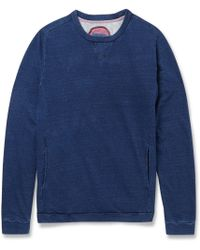 Blue Blue Japan Indigo-dyed Cotton Sweatshirt - Lyst