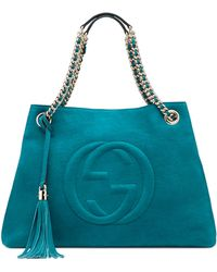 Gucci Soho Nubuck Leather Shoulder Bag - Lyst