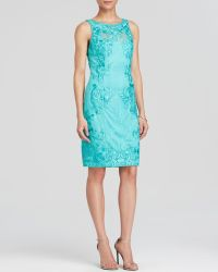 Sue Wong Dress - Sleeveless Lace Sheath - Lyst