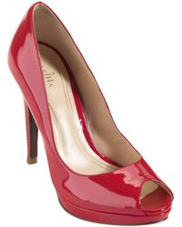 Cole Haan Chelsea Patent Leather Open-Toe Pumps - Lyst