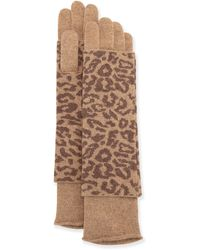 Portolano Cashmere-Blend Animal Print Glove - Lyst