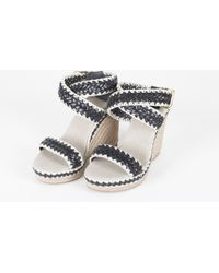 Tory Burch Leather-And-Rope-Wedge-Sandal - Lyst